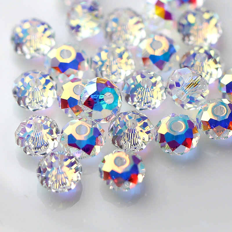 4e4b6412dbace 10pcs 6MM Super Shiny 5040 Austria crystal beads Rondelle faceted Beads  Glass Loose Spacer Beads for Jewelry making DIY