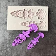3D силиконовые формы Европейский стиль кружева сахарное ремесло помадка шоколадная форма для украшения торта инструменты силиконовые формы для торта