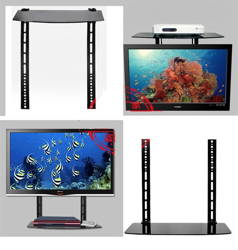 1 Single Glass Shelf Wall Mount Bracket Under Tv Component Cable Box Dvr Dvd Vesa Sizes 200x200 Mm 400x400 Mm Ae109ck1de In Tv Mount From Consumer