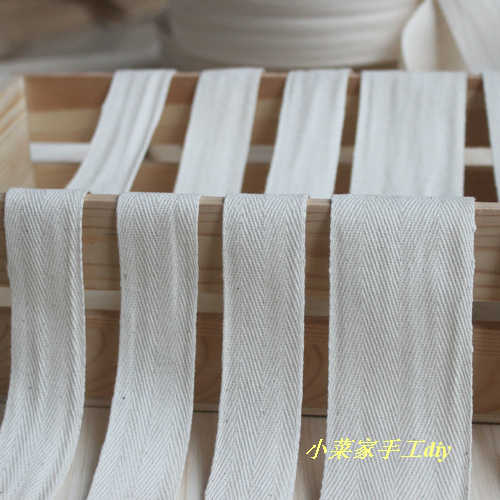 Free Shipping ! (25mm) Raw White/NATURAL COLOR Herringbone