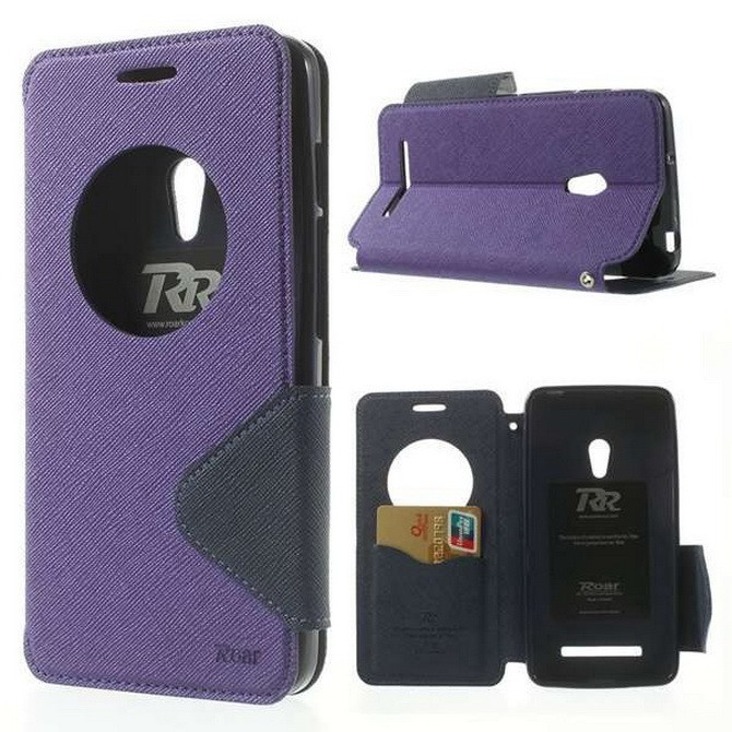 Open Window Display Leather Case For <font><b>Asus</b></font> <font><b>Zenfone</b></font> <font><b>5</b></font> Diary Flip Cover Card Storage Stand Phone Cases for Zenfone5 <font><b>A501CG</b></font> <font><b>A500CG</b></font> image