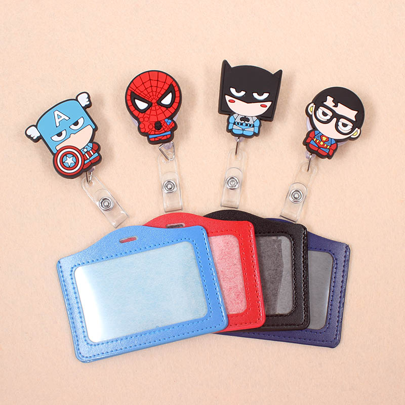 1Set Avengers Spiderman Retractable Badge Reel High Quality Student Nurse Exihibiton ID Name Card Badge Holder Office Supplies