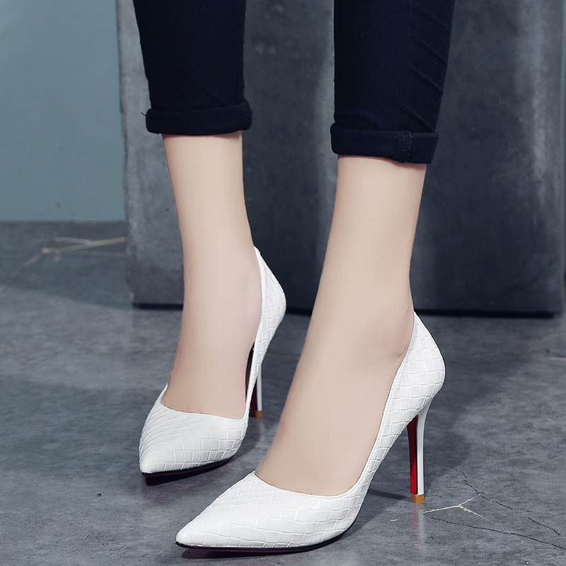 kjstyrka brand design 2018 fashion red bottom pumps women shoes thin high  heels 8cm Elegant ladies black white zapatos mujer-in Women s Pumps from  Shoes on ... 4b60c4dd7df5