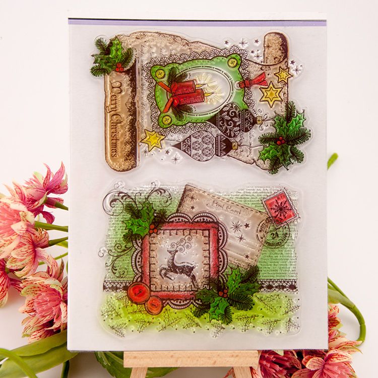 Clear stamp merry christmas Scrapbook DIY Photo Album Card Hand Account Rubber Product Transparent Seal Stamps school Kid gift scrapbook diy photo album account transparent silicone rubber clear stamps 20x28 5cm big size wedding