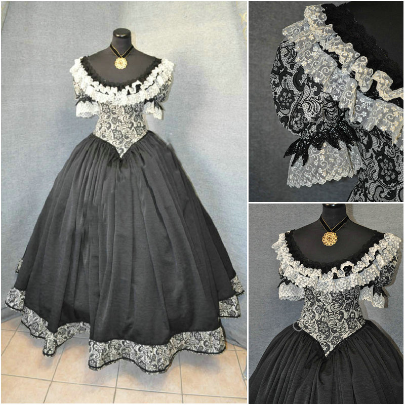 Freeship! Customer-made 19 Century Vintage Victorian Dresses 1860s Civil War Southern Belle Gown Cosplay dresses US4-36 C-559 Платье