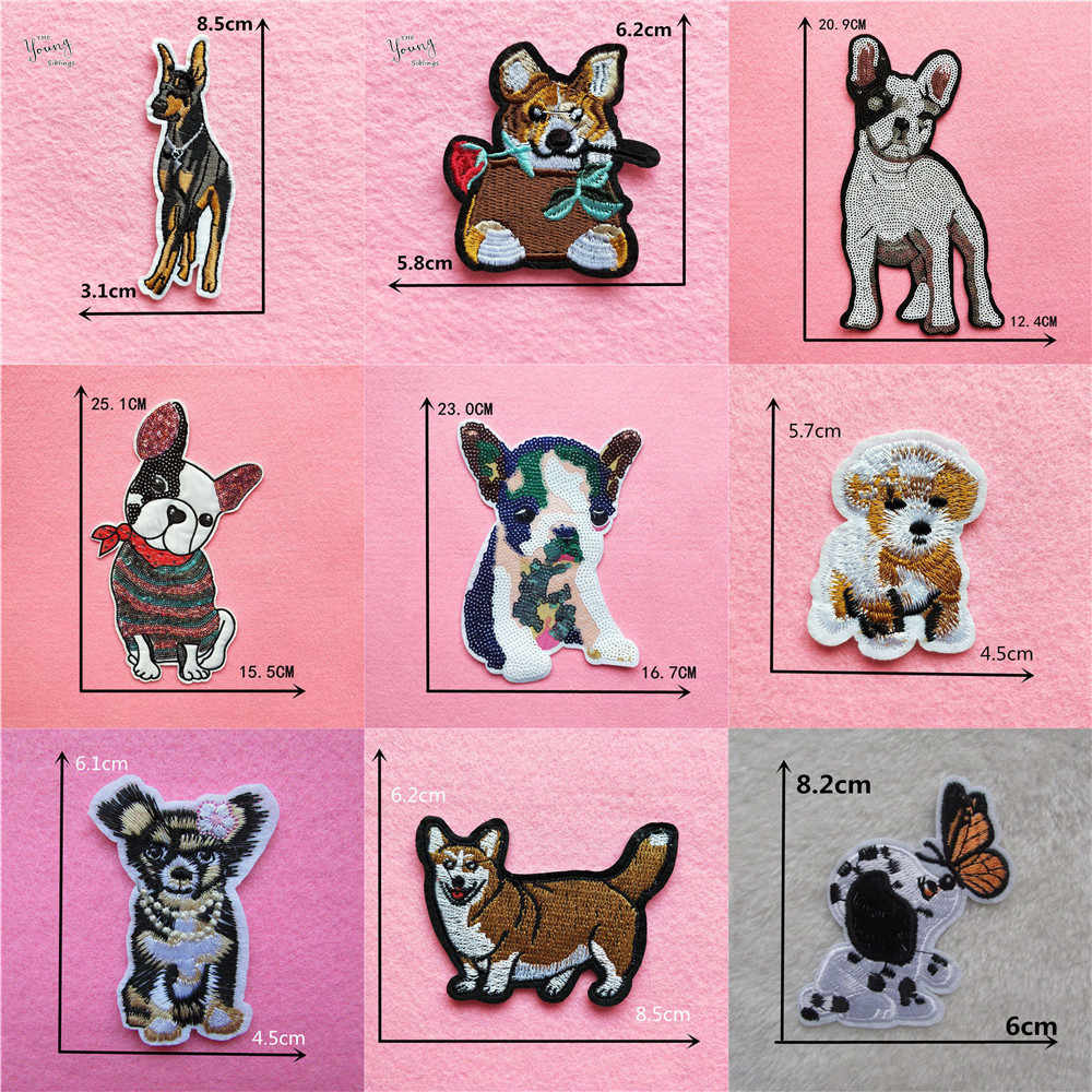 Dog Patches Decorative Stickers Scrapbooking Cartoon Animal Stickers badge  Stationery Album Stickers Kids Gifts Accessories