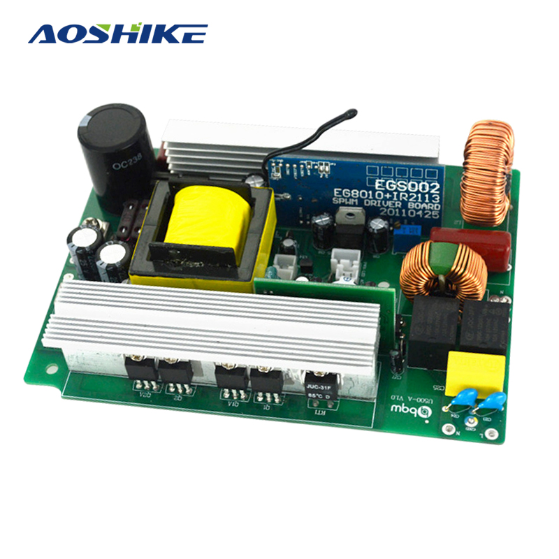 Aoshike 500W Pure Sine Wave Inverter Board DC 12V to AC 220V Power Converter With Li Battery Outdoor Use High Quality Tested aoshike 10 15v 300w adjustable small inverter board micro boost machine head single land use pole machine