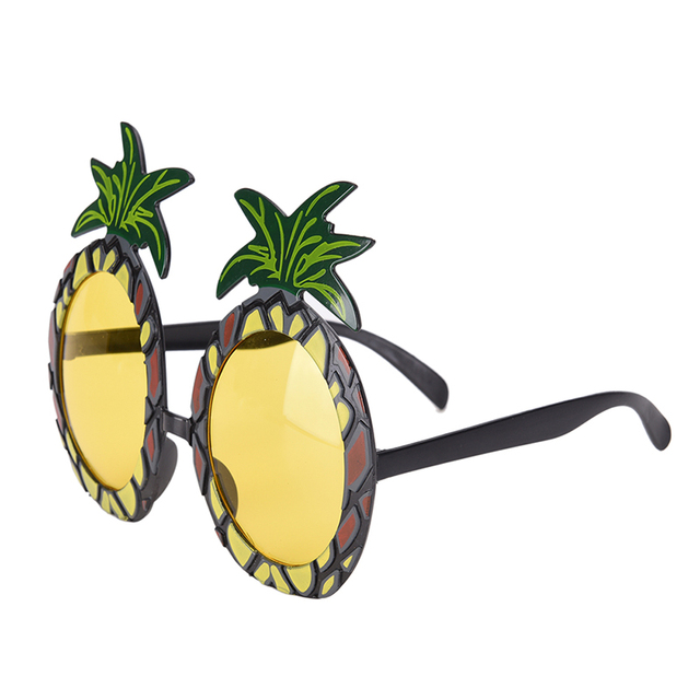 US $1 66 16% OFF|Funny Hawaiian Beach Pineapple Sunglasses Hawaii Party  Fruit Glasses Dancing Supplies Hen Night Stag Party supplies-in Party Masks