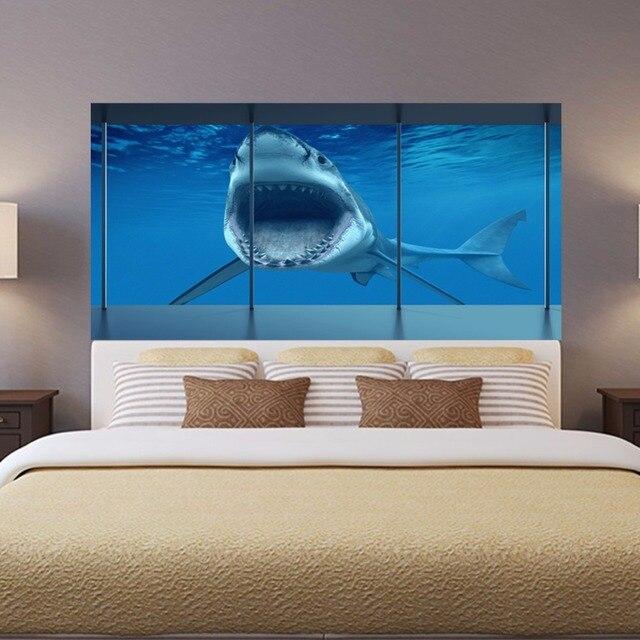 Schlafzimmer Dekoration Diy 2 #18: 2 Teile/satz 3D Shark Nachtwandleuchte Aufkleber Für Schlafzimmer Tier  Kreative Dekoration Poster Selbstklebende DIY