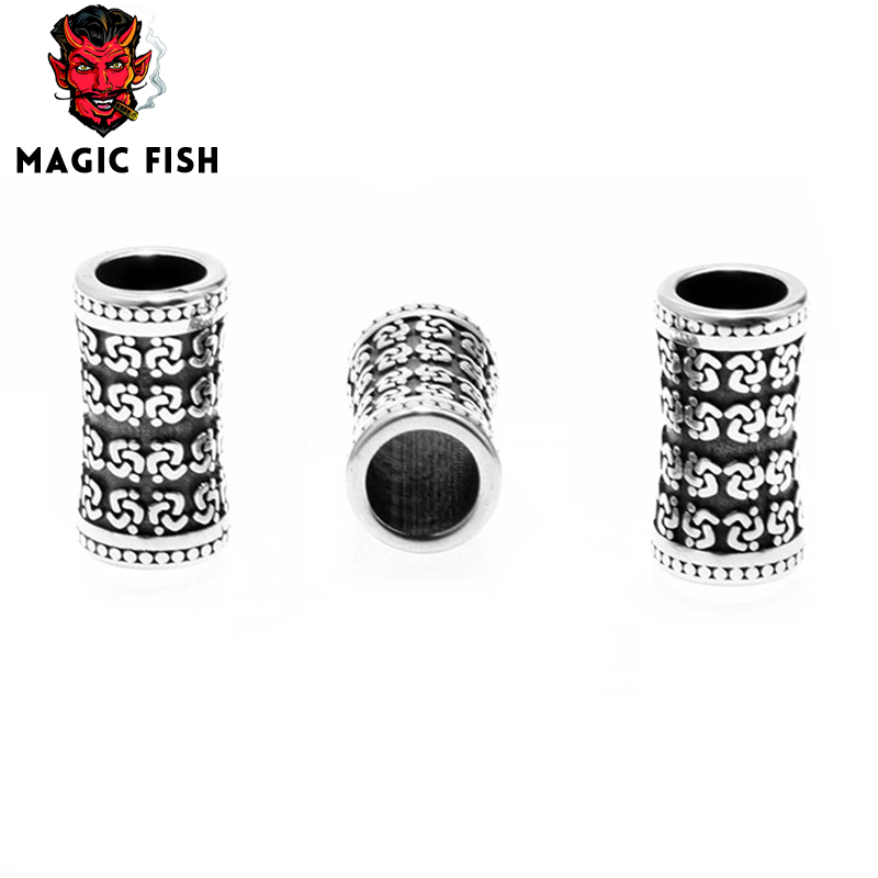 Magic Fish Beads For Diy Crafting Steel Series With Patterns Trendy Men Charms Bracelets Accessories Wholesale Kolye Brooch Bts Beads & Jewelry Making