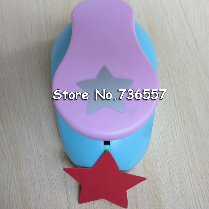 free shipping 3 inch (about 7.0cm) star design eva foam punch scrapbooking puncher paper crafting punch hole punches for DIY free shipping 10pcs bag 2mm thickness craft punches child sticker single sided adhesive glitter eva foam sheet eva sponge
