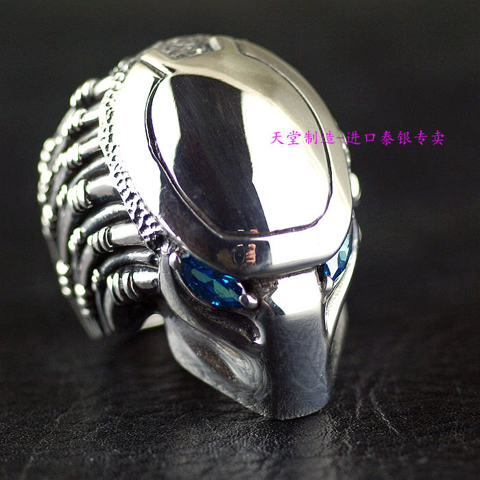 Thailand imports, heavy domineering 925 Sterling Silver predator Mens Silver Ring thailand imports skull blood new skeleton silver ring