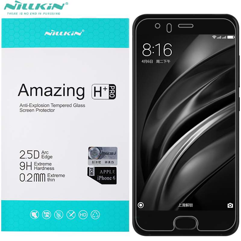 Nillkin 0.2mm brand Tempered Glass For xiaomi mi 6 Screen Protector