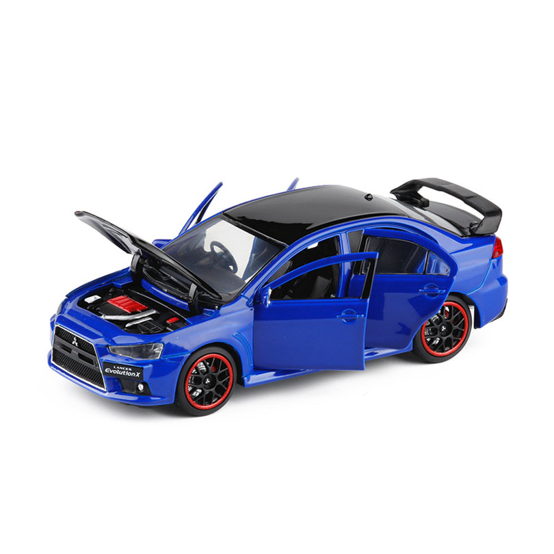 1/32 LANCER EVO X 2019 Simulation Toy Car Model Alloy Children Toys Genuine License Collection Military Off-Road Vehicle