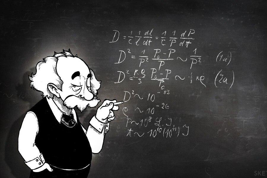 Albert Einstein Physics Chalk Board Math Humor Funny Fabric Silk Poster Print Home Decoration B0420-2 web page