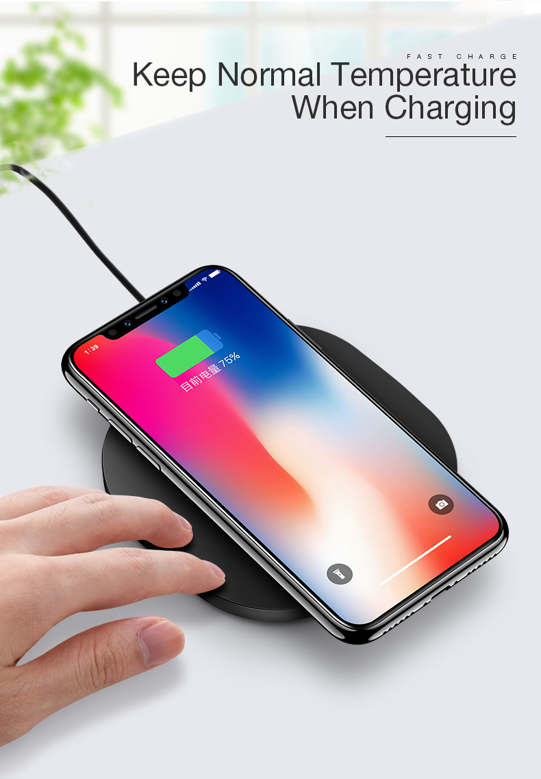 CAFELE Qi Wireless Charger For iPhone X
