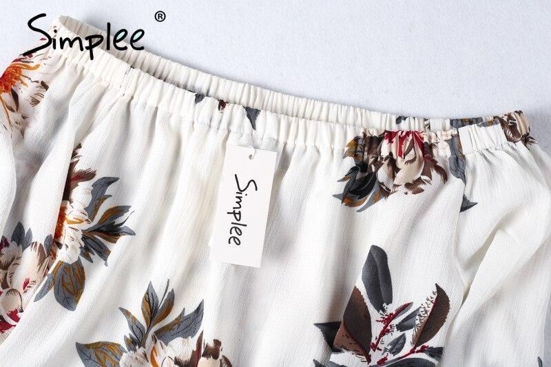 HTB147n5PXXXXXXSapXXq6xXFXXX9 - Floral print off shoulder chiffon blouse Women tops halter cool
