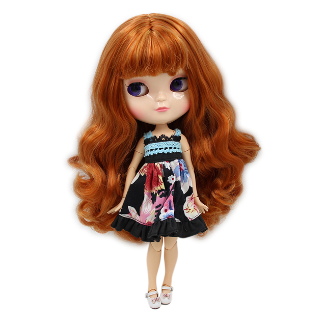 ICY 1/6 nude doll small chest Joint body natural skin brown mix gloden hair with makeup DIY girl gift No.764A1207 30CM F&D