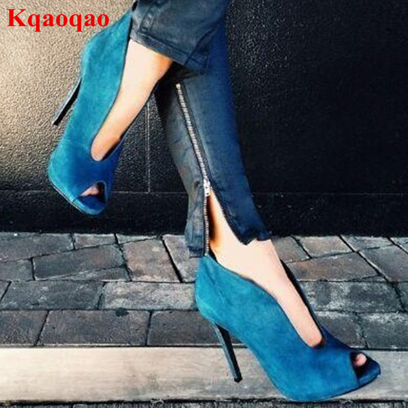 Peep Toe Women Pumps Fashion Spring Autumn Luxury Brand Zapatos Mujer Star Runway Stage Shoes Chaussure Femme High Thin Heel famiaoo women pumps chaussure femme black gray zapatos mujer tacon high heel 2017 pointed toe thin heel ladies pumps women shoes