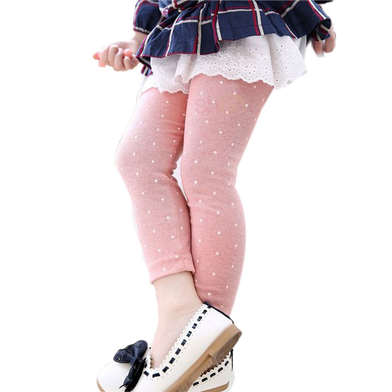 2017 Autumn Winter Kids Casual Pants Girl Stretchy Leggings Trousers 2 7Y Candy Color in Pants from Mother Kids