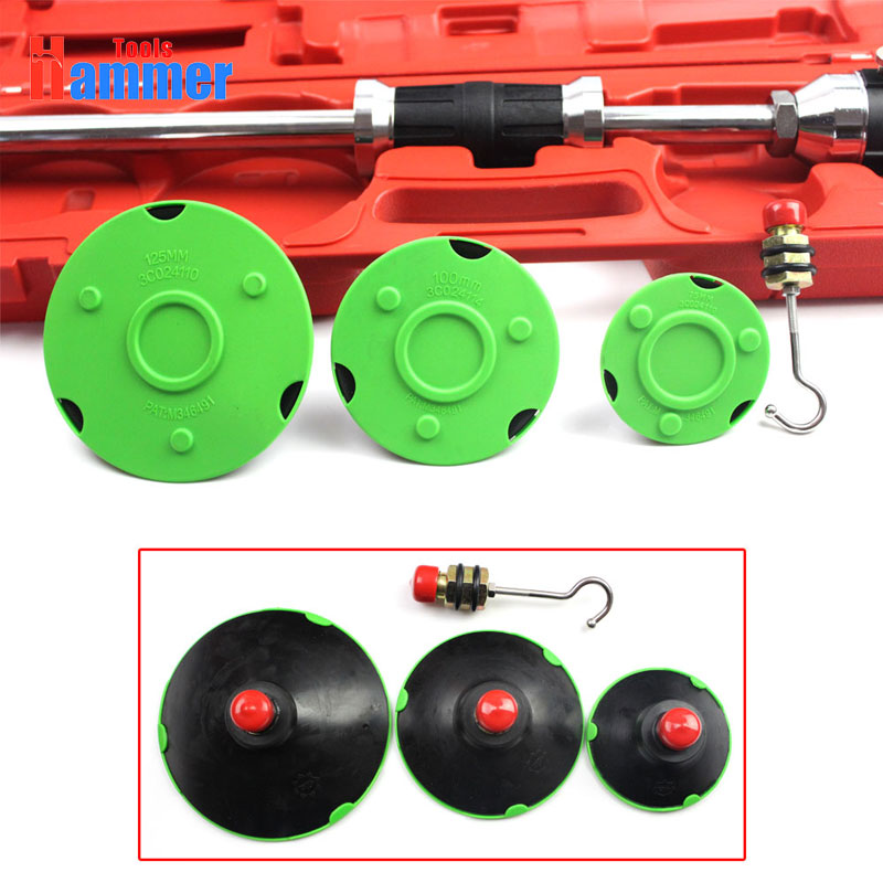 Handle pump suction cups dent puller slide hammer with 3 Pads Puller kit PDR tools