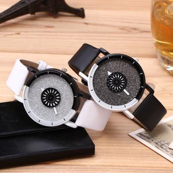 Fashion Couples watch Women Men Leather Sport Quartz Watch 2019 Creative Watches Women's Dress Wrist Watches Mens Ladies Clock