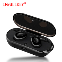 TWS Mini Bluetooth Earphones Headset Bass Stereo CSR4.2 True Wireless Voice Prompt Earbuds with Charging Box LJ-MILLKEY YZ111