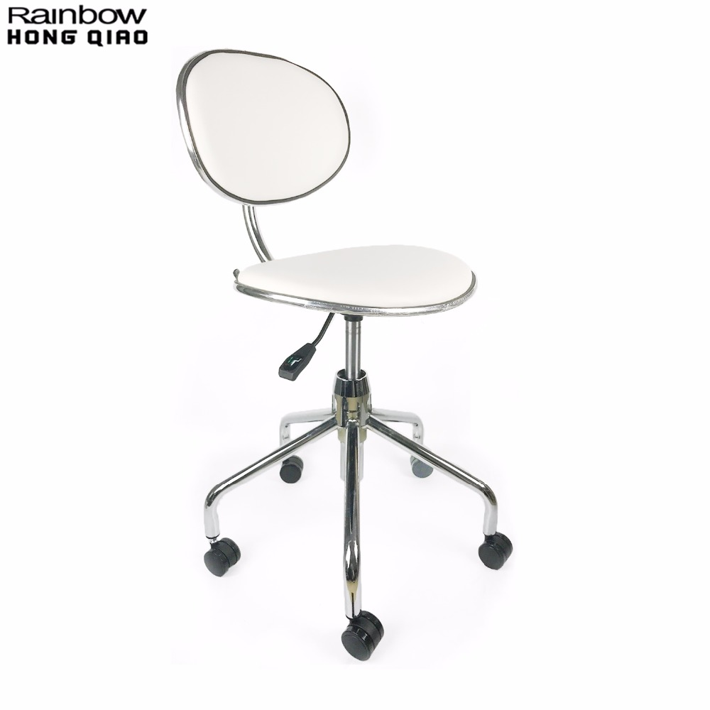 Swivel Task Office Chair Stool For Bar Makeup Store Beauty Salon Reception Barber Shop, Portable Furniture For Mini Small Space