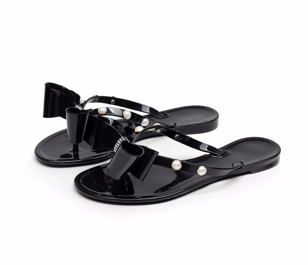 Black Jelly Flip Flops