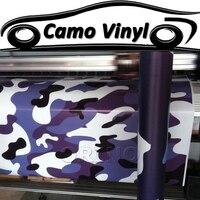 Car Styling Purple Camouflage Vinyl Decal Wrap Sheet Black Purple Camo Vinyl Sticker Vehicle Body Covers Wraps