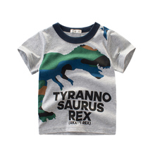 Boys T-Shirts Clothing Tops Short Sleeve Dinosaur Shirt  Kids  Girls Tee  T Shirt Summer Cartoon Cotton  Toddler Shirt  Little cotton boys t shirt excavator summer 2019 cartoon frog printed short sleeve t shirt for kids boys tee shirt dinosaur tops