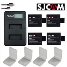 4x Bateries Sj cam Sj4000 Battery + LCD Dual USB Charger for SJCAM Sj 4000 SJ6000 SJ5000 Sj5000x Sj7000 Sj8000 Sj9000 Wifi M10(China)