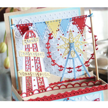 Cute Ferris Wheel  Metal Cutting Dies Stencils For DIY Scrapbooking Decorative Embossing Suit Paper Cards Die Template