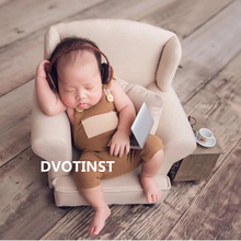 Dvotinst Newborn Photography Props for Baby Mini Laptop Computer