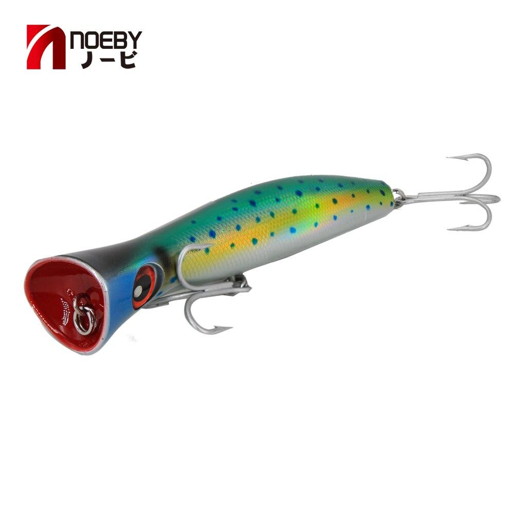 Noeby Venta caliente 20 cm 8 pulgadas Popper señuelos para pesca de mar con VMC ganchos hunt casa