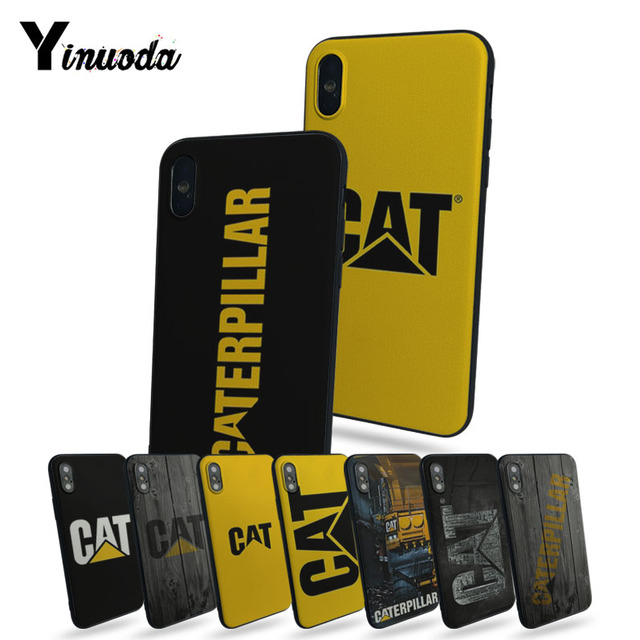 san francisco a59dd d6c13 US $1.17 38% OFF|Yinuoda Caterpillar logo Coque Shell Phone Case For iphone  8 8plus 7 7plus 6 6plus 5 5s 5c SE XR XS XS MAX-in Half-wrapped Case from  ...