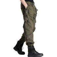 2017 Unisex Pantolon Havalandırmalı Giymek Kovucu Açık Havada Ordu Yeşil Çok cep CAMO Askeri Casual Kargo Erkek Ya Da Kadın Pantolon