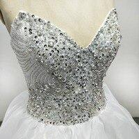 Vestido De Novia V Yaka Kristal Prenses Gelinlik Son Tasarım Ruffleds Gelin Kıyafeti Elbiseler De Mariage 2018