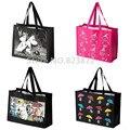 Moomin Little My Reusable Shopping Bag Black Large Supermarket Bags Strong Cartoon Handbag Tote Gift Bag Beach Bag Waterproof