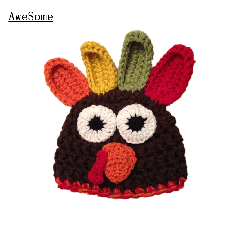 Free Shipping Chicken Baby Boy Girl Hatknit Crochet Thanksgiving
