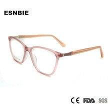 Acetate Women Optical Glasses Frame Cat Eye Frames Woman Fashionable Spectacle Rhinestone Eyeglass