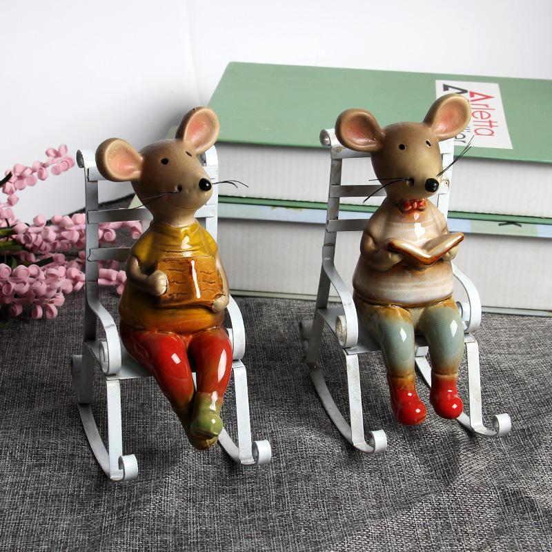 Ceramic Model Rat Animal Artificial Mold Cute Decorative Ornaments Table Sofa Gift Excellent Exquisite Toys