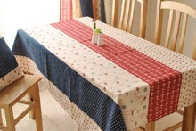 Cotton Blue dining Red tablecloth Vintage Garden Home decor beige literature natural Beauty Multisize writing desk