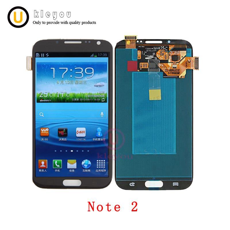 AAA qualité originale 5.5 ''remplacement pour Samsung Galaxy Note 2 N7100 Note2 LCD écran tactile numériseur assemblée