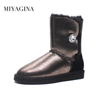 High Quality Genuine Sheepskin Real Fur 100 Wool Women Winter Snow Boots China Brand Boots Free