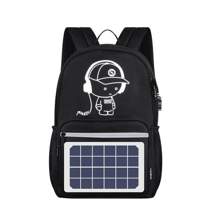 Solar Powered Backpack USB Charging Anti-Theft Laptop Backpack for Men Shoulder Bags Popular