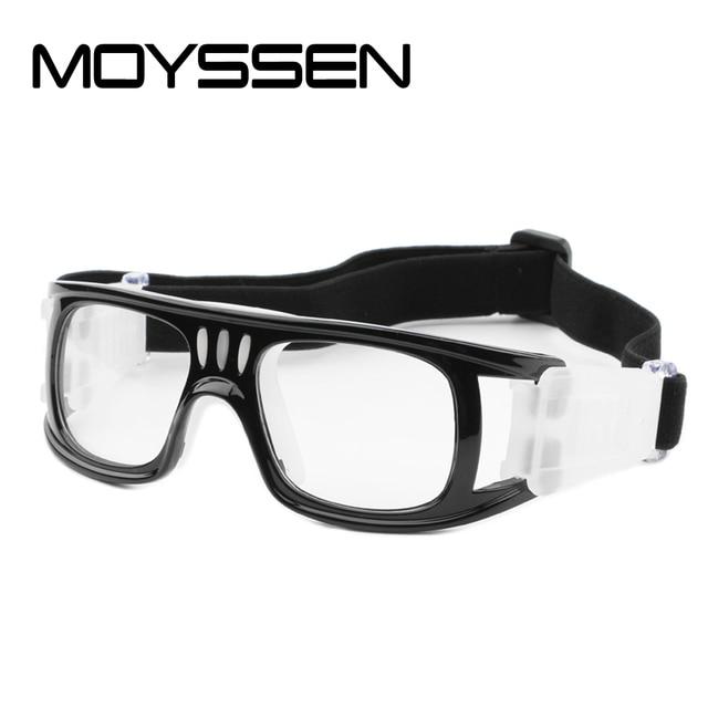 186e36e0941 MOYSSEN Men male Outdoor Football Basketball Glasses Myopia Sports Goggle  Protective Eyeglasses Prescription Eyewear
