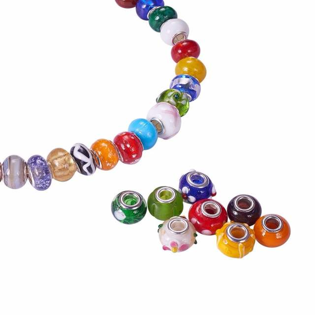 100× 304 Stainless Steel Bead Rondelle 6x4.5mm Jewelry Loose Spacer Making Craft