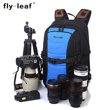 лучшая цена Flyleaf  FL-360# DSLR Camera Bag High Quality Backpack Professional Anti-theft Outdoor Men Women Backpack For Canon/Nikon camera