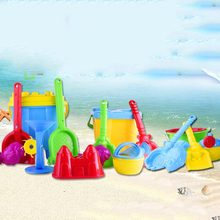 6pcs Novelty Mini Beach Toys Set Sand Pails Bucket with Shovel Rake Summer Pool Beach Sand Play Toys Gift for Children Kids(China)
